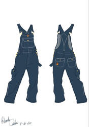 The Club Banana Baggy Overalls