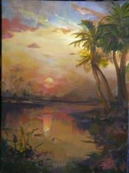 Atmospheric Palm Trees by thalia393