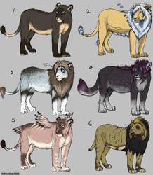 More adoptables- SOLD OUT by LeoNoy