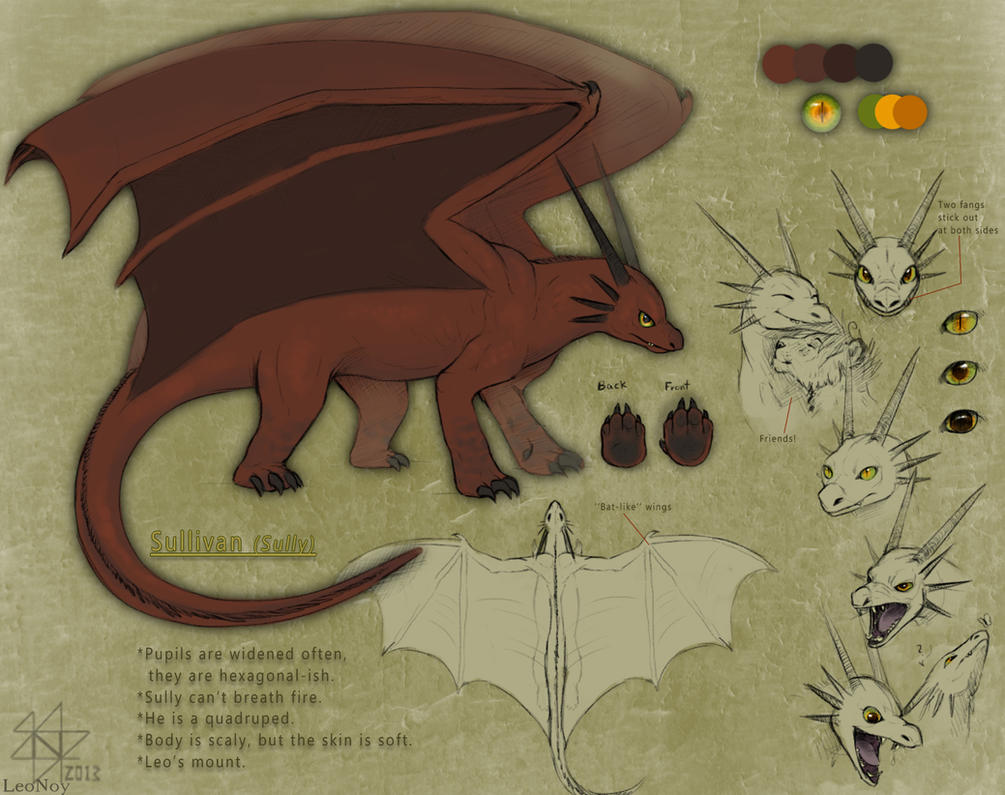 Sullivan the dragon by LeoNoy