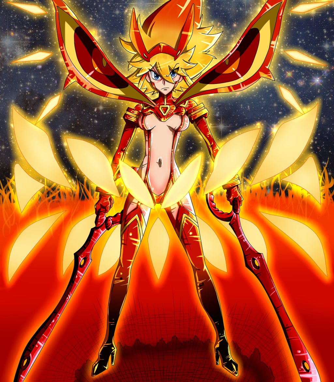 Ryuko and Senketsu (final form) by FinnClink on DeviantArt