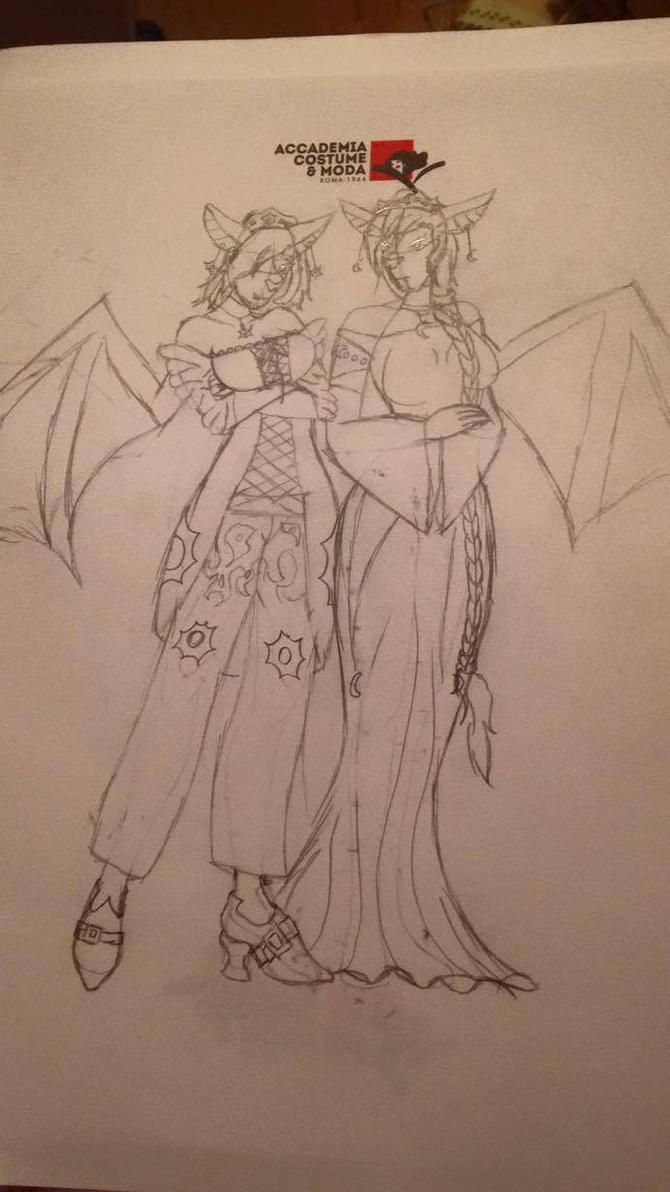 Naiana and Daiana WIP by millo486