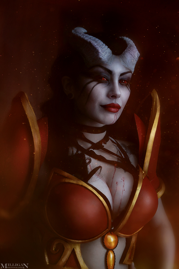 Queen of pain cosplay by ShlachinaPolina