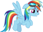 Rainbow Dash nervous hovering without suit