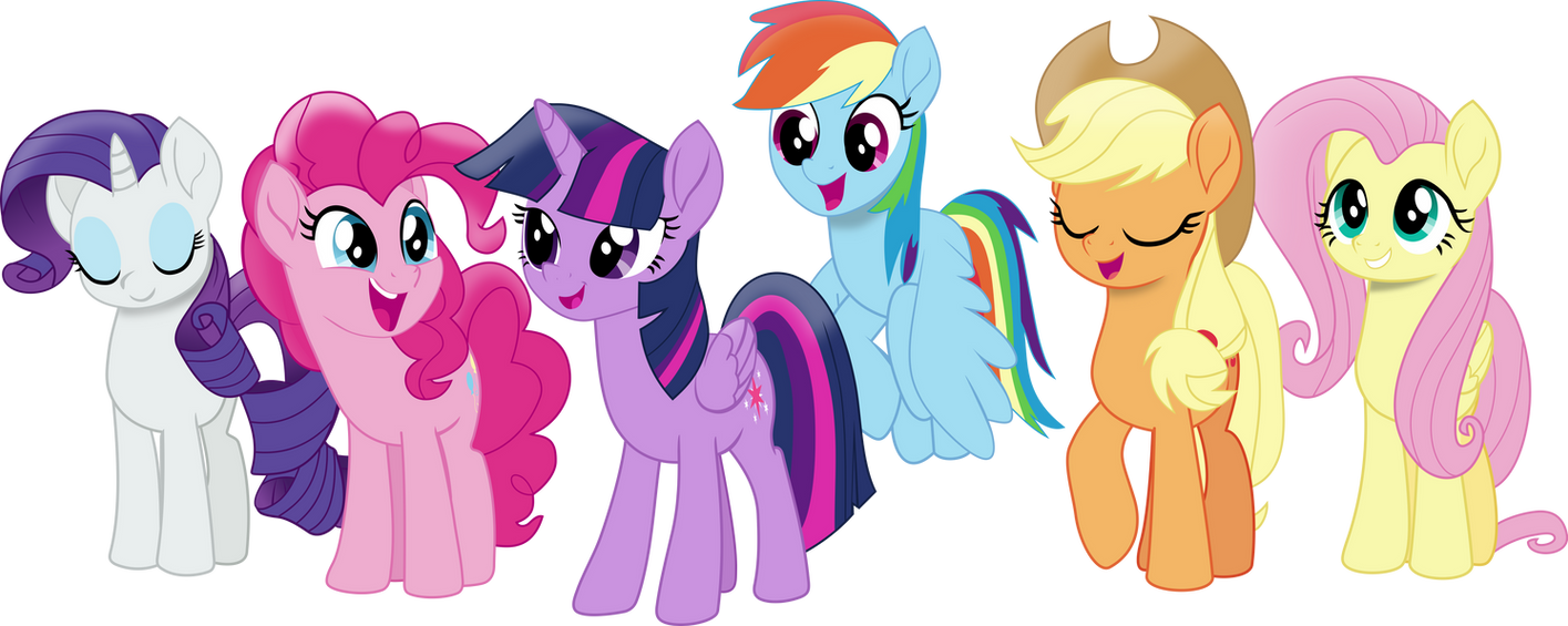 Movie Style Mane Six By FrownFactory On DeviantArt