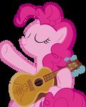 Pinkie playing guitar