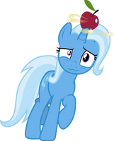 Trixie balancing an Apple by FrownFactory