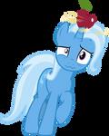 Trixie balancing an Apple