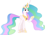 Celestia found something on her hoof