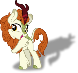 Autumn Blaze+Silhouette Gloom of the Sundown Lands by FrownFactory