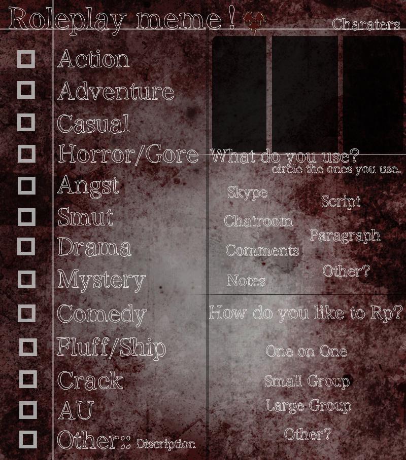 Poke-Apocalypse [] Roleplay Meme by KrayaSama