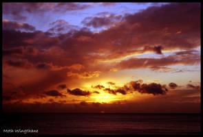 Sundown at Sea by Moth-Wingthane