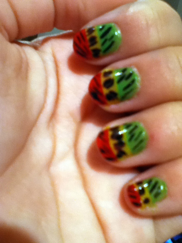 Fantastic Nail Designs With Jamaican Colors Pictures - Nail Art ...