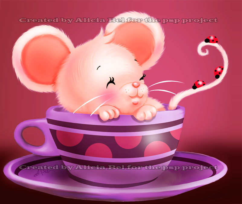 Mouse in a cup by AliciaBel