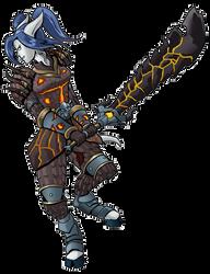 WoW - Draenei Arms Warrior - Selaandra by Coyotzin