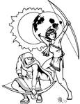 Greek Myths-The Gods-Apollo and Artemis
