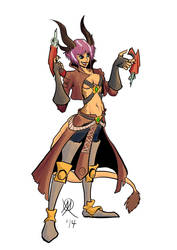 Wildstar - Female Draken Spellslinger by Coyotzin