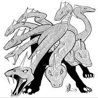 Greek Myths-Hydra by Coyotzin