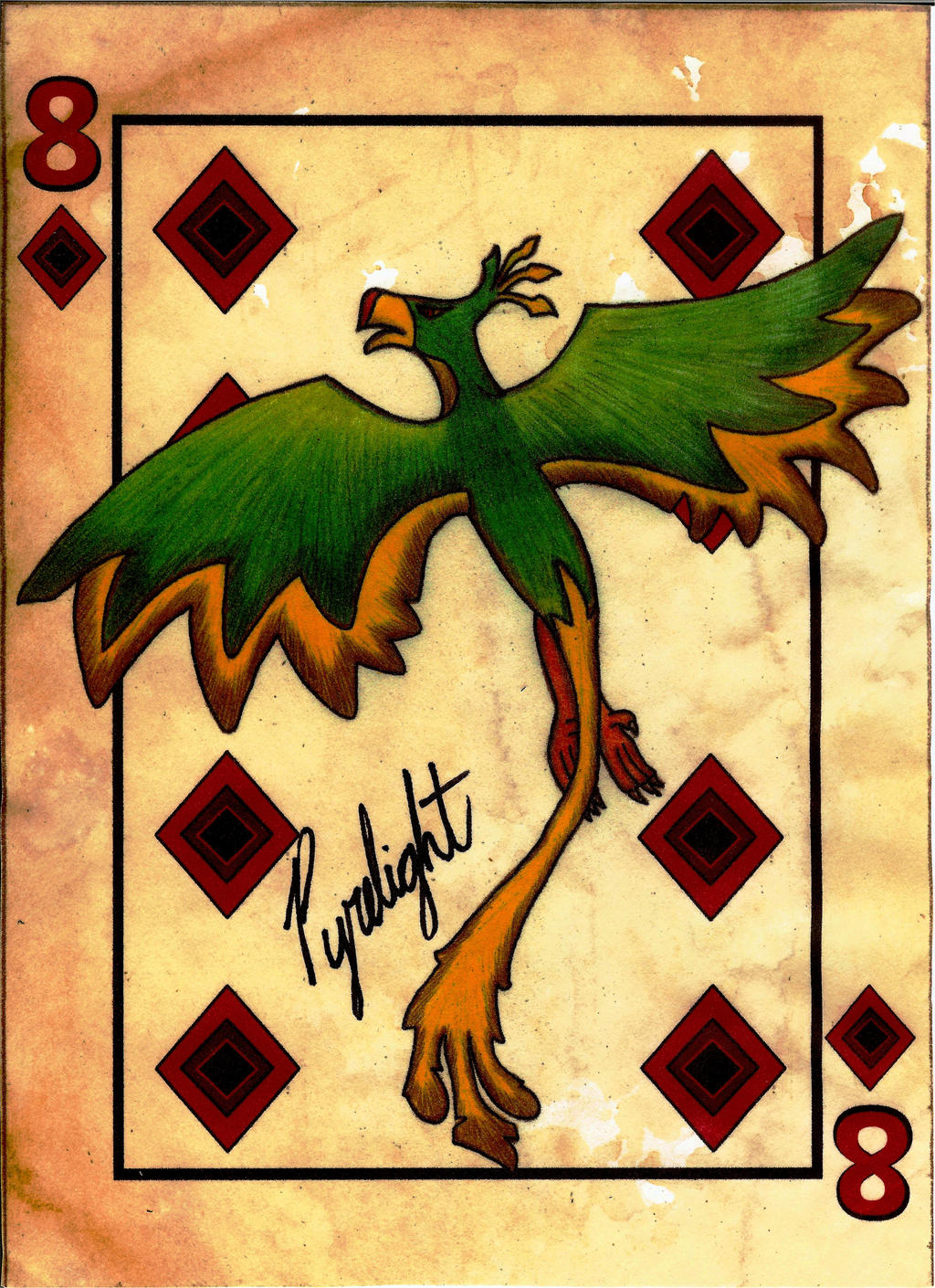 FOE Playing Card - 8 of Diamonds - Pyrelight