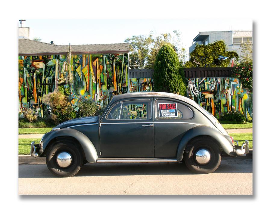 1965 Black VW Beetle by DocSonian