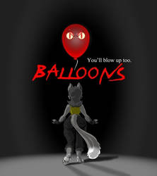 Balloons spoof poster by polycomical
