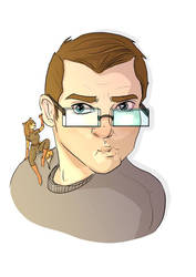 Rob Turner cartoon profile by polycomical