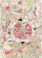 Square city round