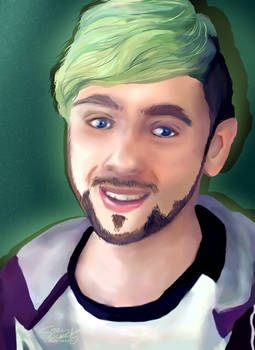 Jacksepticeye || Semi-realistic digital drawing