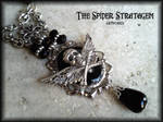 Gothic necklace 'Wings of death'