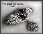 Gothic brooch 'Filigree and bats'