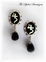 New stud earrings 'Sopor Aeternus' by TheSpiderStratagem