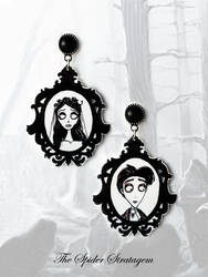 Gothic victorian earrings 'Corpse bride'