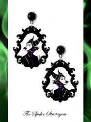 Gothic victorian earrings 'Maleficent' goth