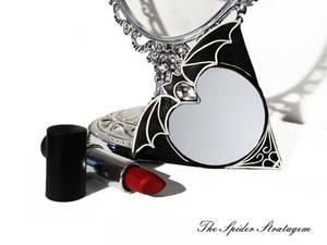 OOAK Gothic pocket make up mirror 'Vampira'