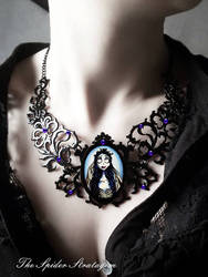 OOAK Gothic victorian necklace 'The Corpse Bride'