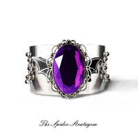 OOAK Gothic bat winged bracelet 'The hunger'