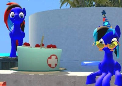 Poolside birthday party