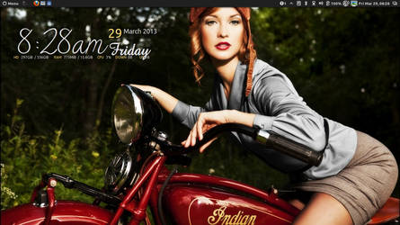 Classic Chick on Indian Bike