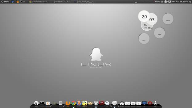 Gray Linux Tux