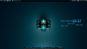 Going Deep Blue. Wallpaper and Conky