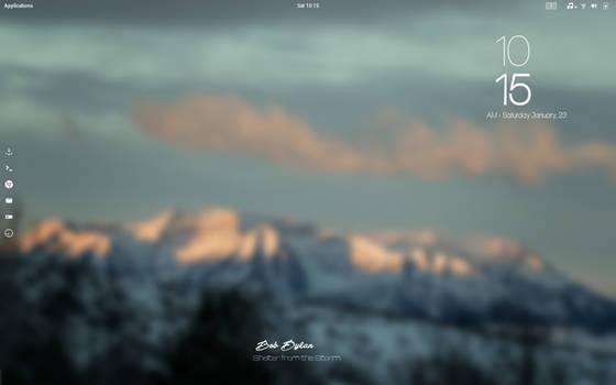 Antergos  Gnome , Blurr Desktop