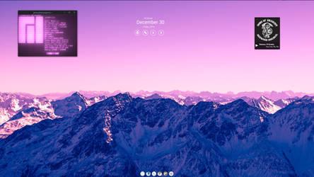 Manjaro Mate and pink Mountains. by speedracker