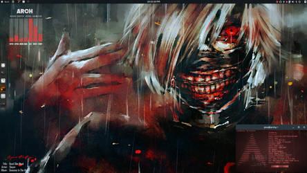 Arch Budgie Tokyo Ghoul desktop. by speedracker