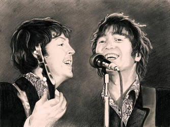 Lennon and McCartney 1966 by georginaflood