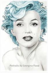 Aqua Marilyn by georginaflood