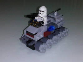 Lego Starwars Microfighters Clone turbo tank by 4ellyK