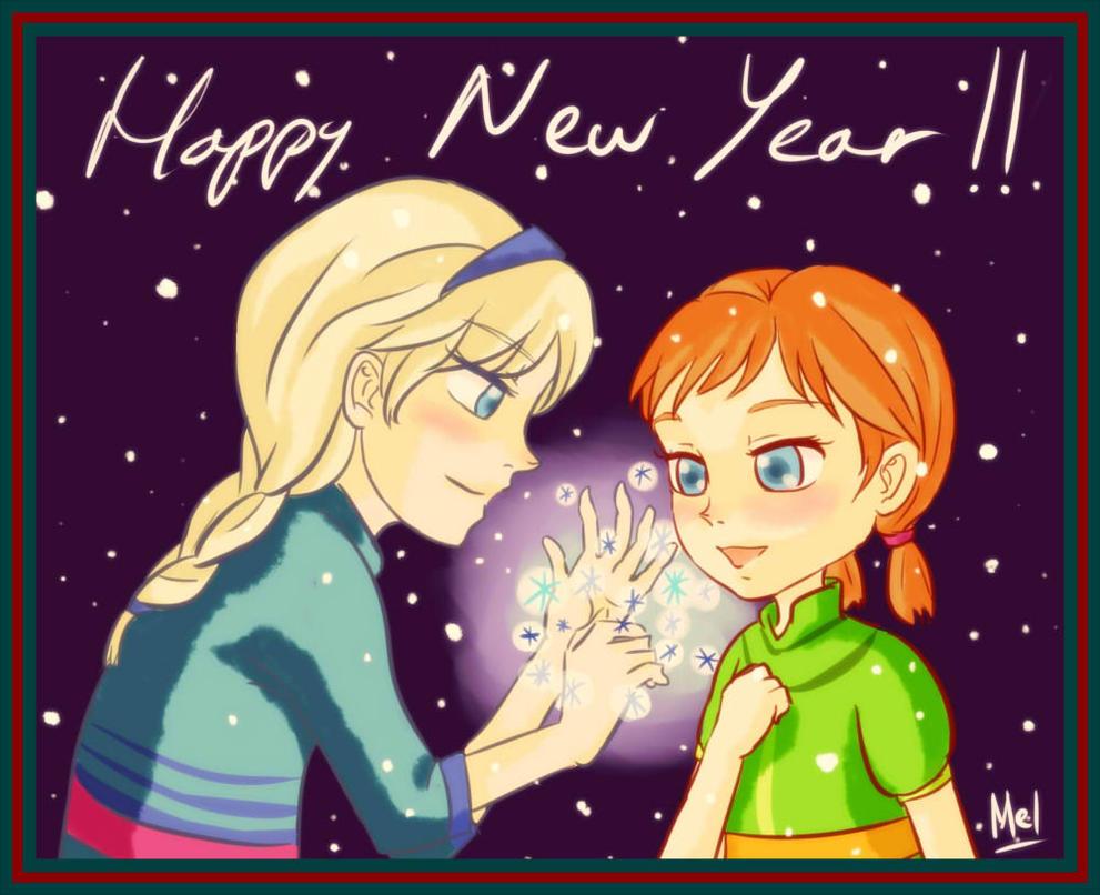 Elsa Anna New Year Fixed by hirada-meirin