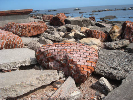 Discarded brickwork