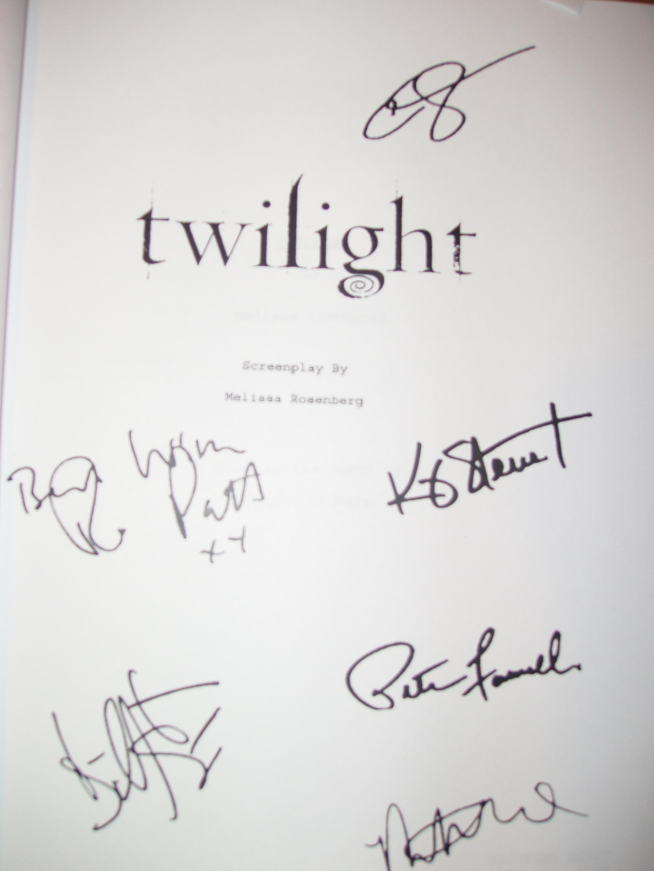 Сумерки 3 с автографом дэвида слейда