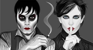 Johnny Depp and Eva Green in Dark Shadows